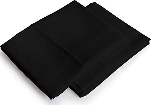 Pillowcases 2 Pack - King Black ? Brushed Mic...