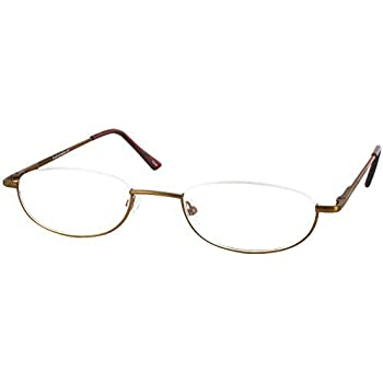 Amazon.com: Clearview Single Vision Half Frame Reading Glasses ...