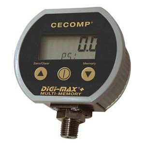 Digital Pressure Gauge, 3 In, 0-30PSIA