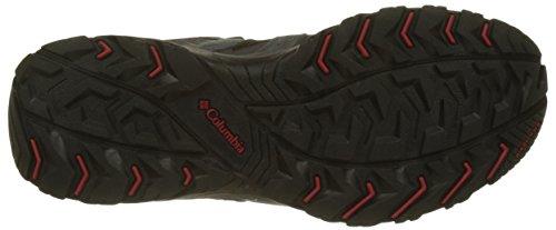 Colombia Heren Sneakers, Canyon Punt Zwart (zwarte, Rode Berg)