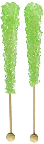 Rock Candy Crystal Sticks Light Green 12ct. - Watermelon - Oh! Nuts ()