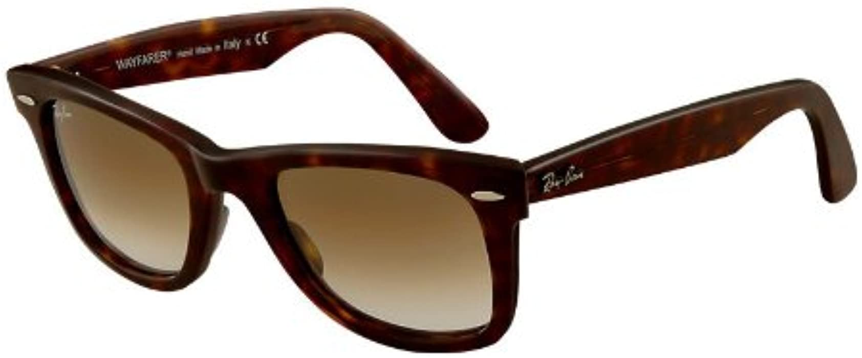 38d38709413 Amazon.com  Ray Ban Original Wayfarer Classic Rb2140 902 51-50-22 Sunglasses  Tortoise Frame Crystal Brown Gradient Lenses  Clothing