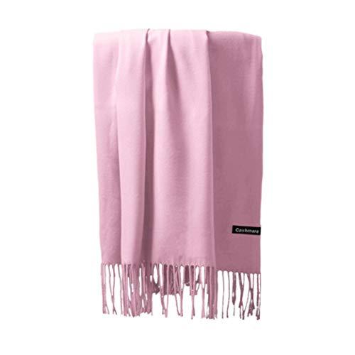 Boomdan Womens Large Soft Imitation cashmere Feel Shawls Wraps Light Scarf Multifunctional warm shawl (Pink) by Boomdan (Image #8)