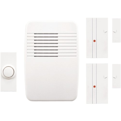Heath Zenith SL-7352-02  Wireless Plug-In Chime Kit with Entry Alert (White)