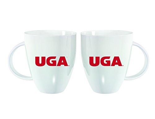 Team Sports America University of Georgia White Lustre Bistro Coffee Mug, 18 Ounces -