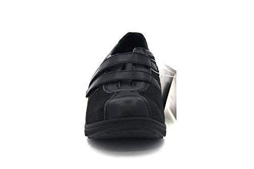 Scarpa Nero Velcro In Io3000 Pelle Made Soft Donna Comodone Cinzia Italy O6Htwt