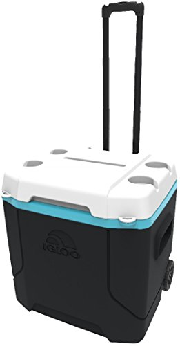- Igloo Profile 54 quart Roller, Black.White.Turquoise, 54 Qt. / 51 Large / 85 Cans