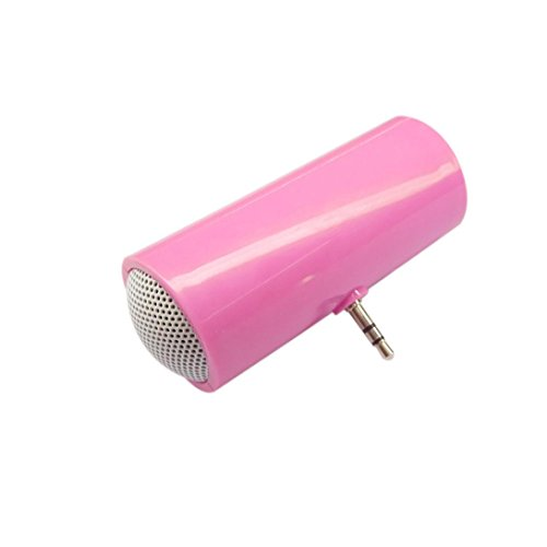 Creazy 3.5mm Music Player Stereo Speaker For iPod iPhone6 Plus Note4 Cellphone (pink)