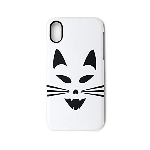 Cat-Scary Cat Face Halloween Phone Case for iPhone X Unisex ClassicScratch-Resistant Back Cover Skin ()