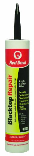 (Red Devil 0637 10.1-Ounce Blacktop Driveway Repair Caulk, Black)