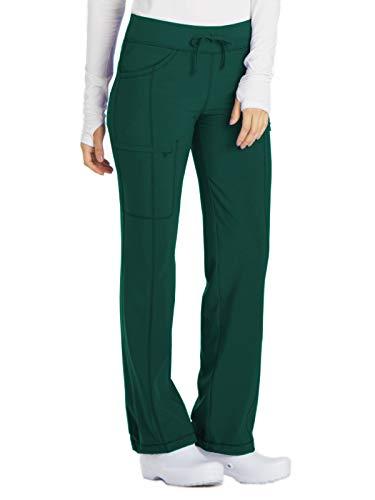 Drawstring Waist Scrubs Uniform - Cherokee Women's Infinity Low Rise Straight Leg Drawstring Pant, Hunter Green, Small