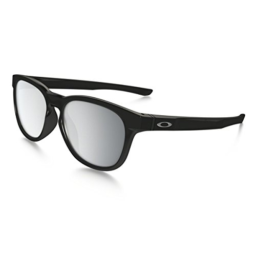 Oakley Stringer Sunglasses, Polished Black/Chrome Iridium, One - Casual Oakley Sunglasses