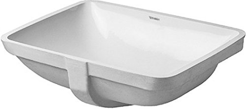 Starck Bathroom Accessory - Duravit 0305490000 Starck 3 Undermount Vanity Basin, White Finish