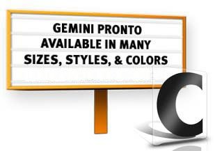 6'' Gemini Pronto Condensed 100 Piece Filler Set Black Letters/Black Numbers by NRS Gemini Pronto