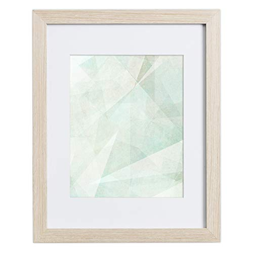 (11x14 Picture Frame Natural Oak - Matted for 8x10 Photo, by EcoHome )