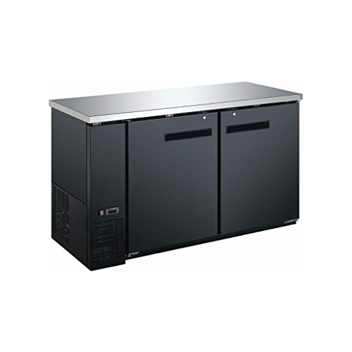"""2 Door Commercial Back Bar Cooler - Beer Fridge - Counter Height Refrigerator; 60"""" Wide"""