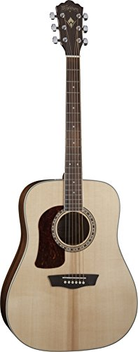 Washburn Heritage 10 Series HD10SLH Left-Handed Acoustic Guitar Natural ()