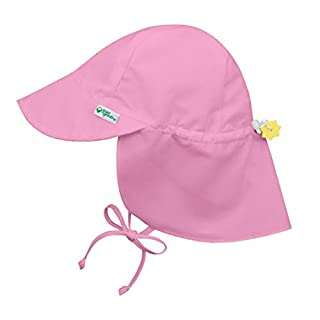 i play. by green sprouts Baby Sun Hat, Light Pink, 0-6 Months