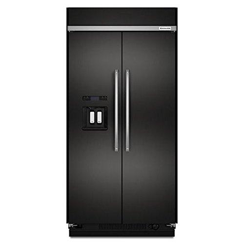 KitchenAid KBSD608EBS 48 Inch Built-in Side by Side - Refrigerator Kitchenaid Black