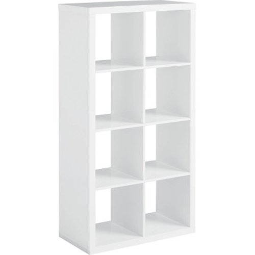 Cnlinkco Better Homes and Gardens 8-Cube Organizer-High Gloss White Lacquer