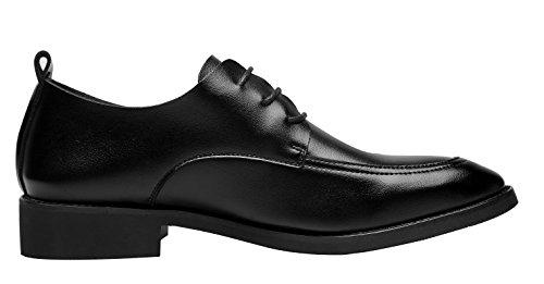Santimon-damesschoenen Voor Heren Casual Oxfords Moderne Klassieke Veterschoenen Met Leren Formele Schoenen Zwart