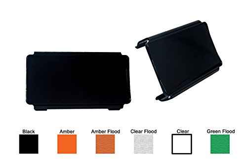 2pcs 6 inch Black Bar OZ-USAÂ Protective Polycarbonate Lens Snap On Cover for Offroad LED light bar dual row ATV SUV 4x4
