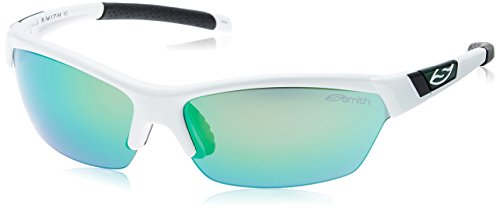 Smith Optics Approach Sunglasses, White Frame, Green Mirror/