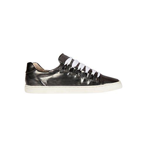 Tedish Sneakers Dames Wandelschoenen Meisje Leder Comfortabele Ongedwongen Lace-up Flats Td004 Orabelle Glaise Glaise