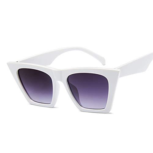 Female Vintage Sunglasses Women/Men Fashion Cat Eye Luxury Sun Glasses Classic Shopping Lady Black ()