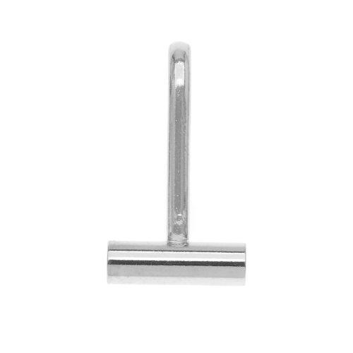 Beadaholique Tone Horizontal Pin Brooch to a Pendant Converter, Silver