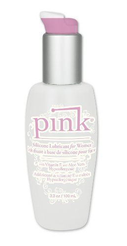 Pink Silicone Lubricant For Women, 3.3 Ounces by Empowered Products ()
