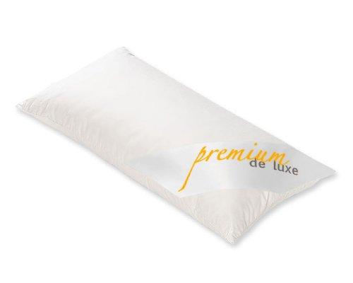 PREMIUM DE LUXE - Daunen Dreikammerkissen - 40 x 80 - aussen: 100% Gänseflaum - Gesamtgewicht: 550 gr. -Deutsches Qualitätsprodukt - 975.22.001 | Soft und stützend