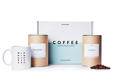 Coffee Gift Box (MistoBox Coffee Lovers Artisanal Whole Bean Coffee Beans & Mug Gift Box - Blue)