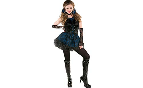 Amscan Midnight Vampire Halloween Costume for Teen Girls, Medium, with Included Accessories ()
