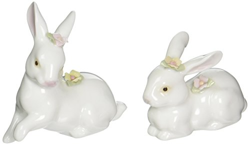 CG 96180 Rabbits with Pink Noses and Pink and Green Flowers