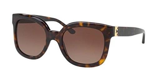 Tory Burch Women's 0TY7104 54mm Dark Tortoise/Brown Gradient Polarized - Eye Burch Tory Cat Frames
