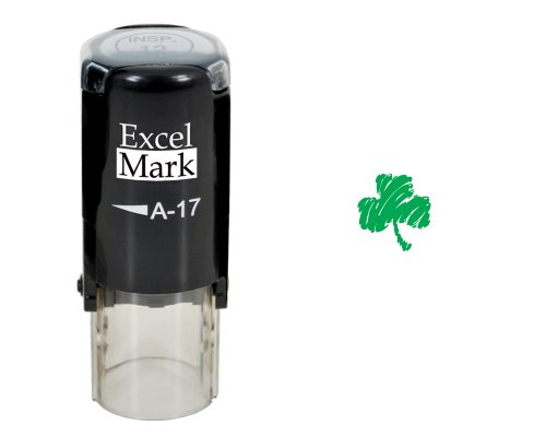 St. Patricks Day Rubber Stamp - Shamrock Stamp - Green Ink