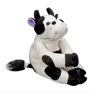 HealthSmart Margo Moo Stuffed Animal Reusable Hot and Cold Compress Therapy Pain Relief Pack for Kids, Black and White by HealthSmart