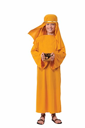 Forum Novelties Biblical Times Shepherd Gold Costume Robe, Child Large (Christmas Nativity Costumes)