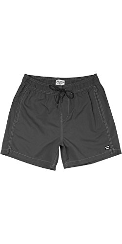 Billabong All Day Layback 16 inch Boardshorts Board Shorts in Black - Soft Surf Suede Fabric and Elasticated Waist