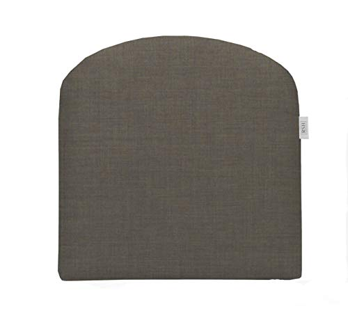 RSH Décor Indoor ~ Outdoor Sunbrella Canvas Taupe Foam Wicker Contour U-Shape Chair Cushion ~ (20x20x3)