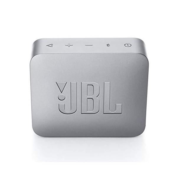 JBL Go 2 - Mini enceinte Bluetooth Portable - Étanche pour Piscine & Plage Ipx7 - Autonomie 5hrs - Qualité Audio JBL - Gris 5