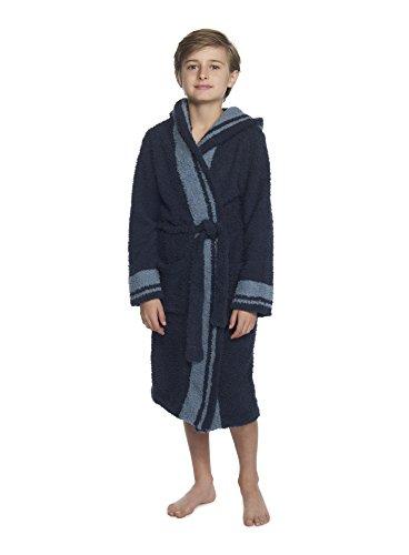 Barefoot Dreams The Cozychic Youth Striped Robe Indigo/Dusk Stripe (Large 12-14)