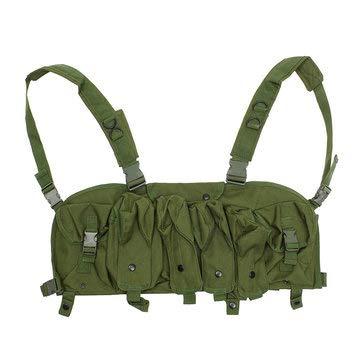 (Tactical Vest Camouflage Tactics Belly Pocket 7 Chest Rig Magazine Carrier Bag - Body & Frame Tank Bag & Saddlebags -)
