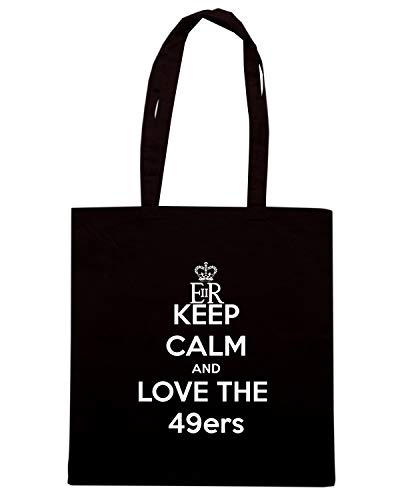 Borsa Shopper Nera TKC2500 KEEP CALM AND LOVE THE 49ERS