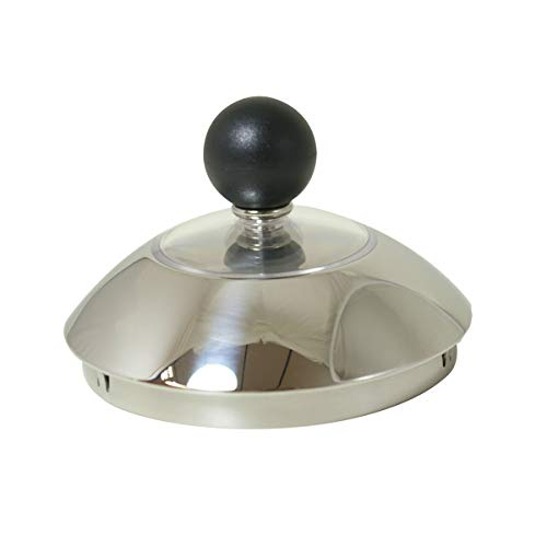 Alessi 9093 Kettle Lid Replacement Part (With Black Knob for 9093 -
