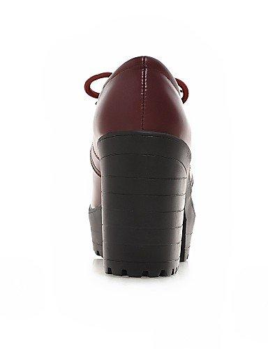 NJX/ hug Damenschuhe - High Heels - Lässig - Kunstleder - Blockabsatz - Absätze - Schwarz / Rot / Beige black-us6 / eu36 / uk4 / cn36