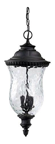 Black Ashford 3 Light Outdoor Pendant by Capital