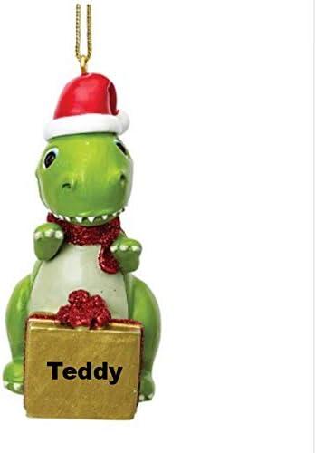 Suki Gifts Dinosaur Christmas Decoration Personalised with Custom Name or Blank