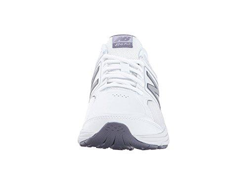 (ニューバランス) New Balance レディースウォーキングシューズ?靴 WW847v3 White/Grey 8 (25cm) 2A - Narrow